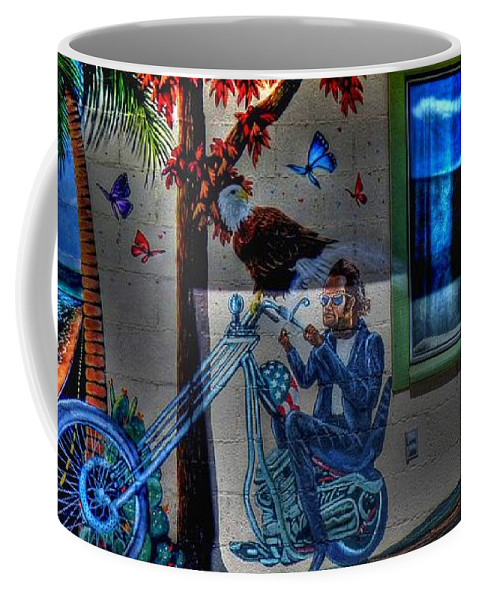 Route 66 Coffee Mug featuring the photograph Easy Rider Mural Route 66 by Tommy Anderson