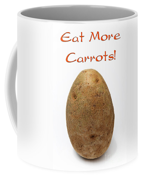 Potato Coffee Mug featuring the photograph Eat More Carrots by Andee Design