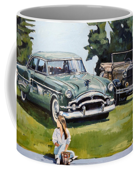 Auto Coffee Mug featuring the painting Eden by Deb Putnam