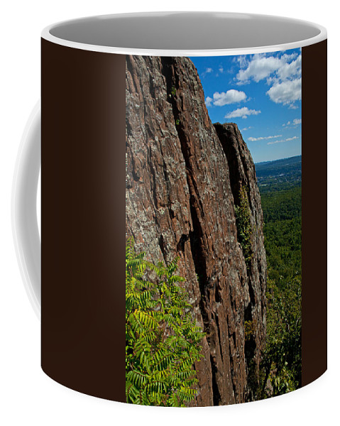 Landscape Coffee Mug featuring the photograph Edge Of The Mountain by Karol Livote