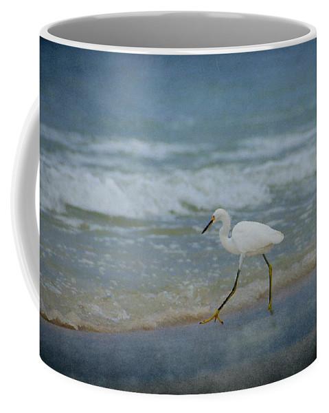 Bird Coffee Mug featuring the photograph Egret by Sandy Keeton