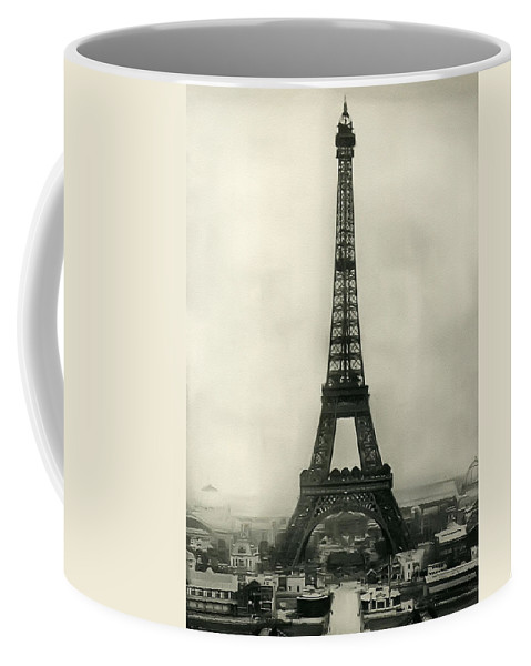 Eiffel Tower 1890 Coffee Mug featuring the photograph Eiffel Tower 1890 by Bill Cannon