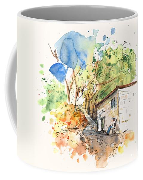 Travel Coffee Mug featuring the painting El Alcornocal 02 by Miki De Goodaboom