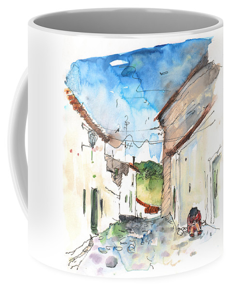 Travel Coffee Mug featuring the painting El Alcornocal 03 by Miki De Goodaboom