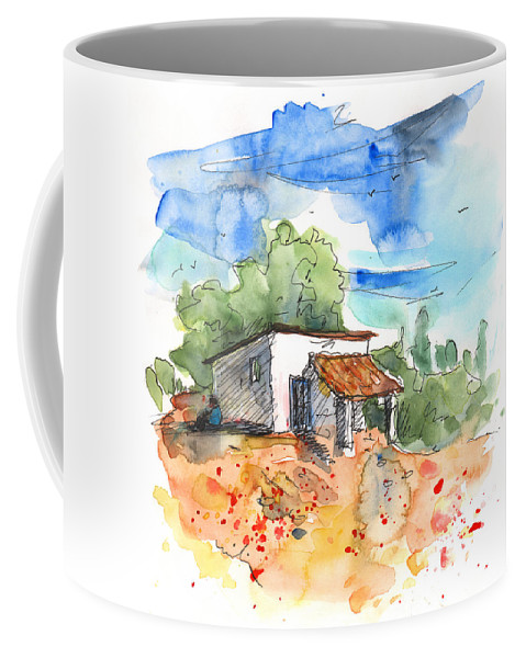 Travel Coffee Mug featuring the painting El Alcornocal 04 by Miki De Goodaboom