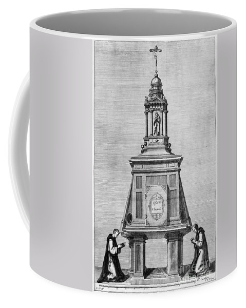 1764 Coffee Mug featuring the photograph El Escorial: Monks by Granger