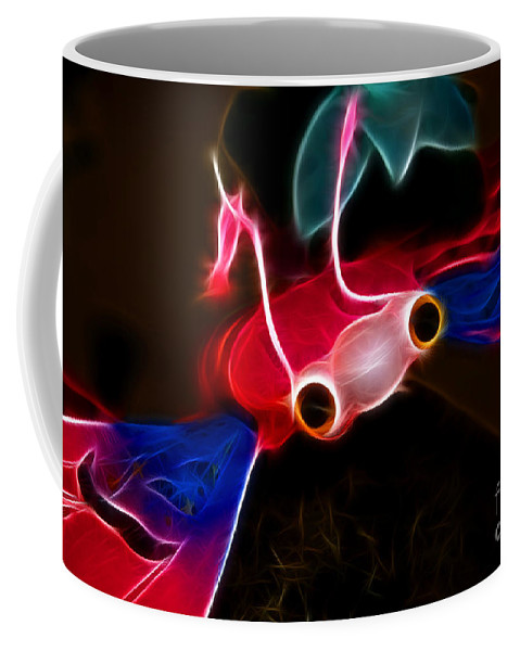 Electric Bug Coffee Mug featuring the photograph Electric Bug by Mariola Bitner
