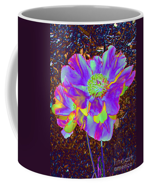 Flower Coffee Mug featuring the photograph Electric Peony by Art Dingo