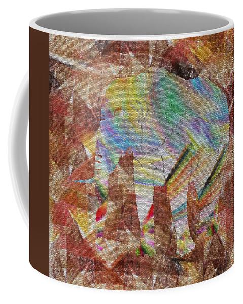 Elephant Coffee Mug featuring the digital art Elephant II by Betsy Knapp