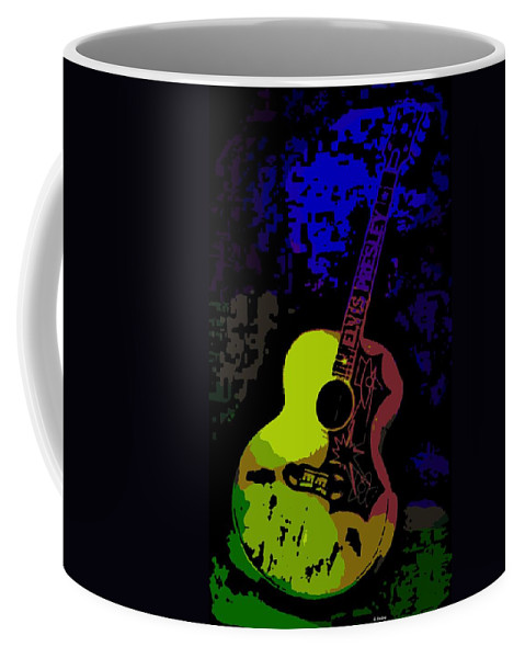Elvis Coffee Mug featuring the photograph Elvis Gibson J200 Guitar by George Pedro