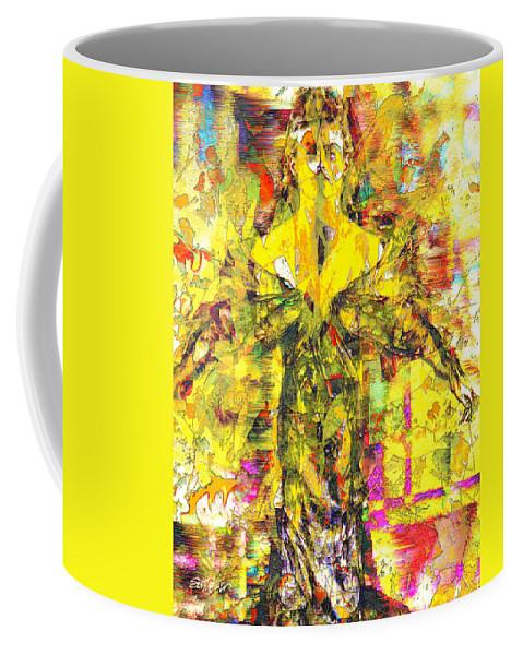 Embrace Of Fall Coffee Mug featuring the digital art Embrace of Fall by Seth Weaver