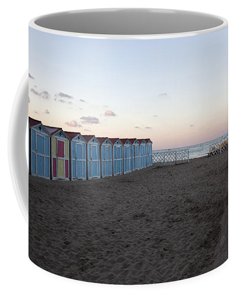 Beach Coffee Mug featuring the photograph End Of Day - Mondello Beach by Madeline Ellis