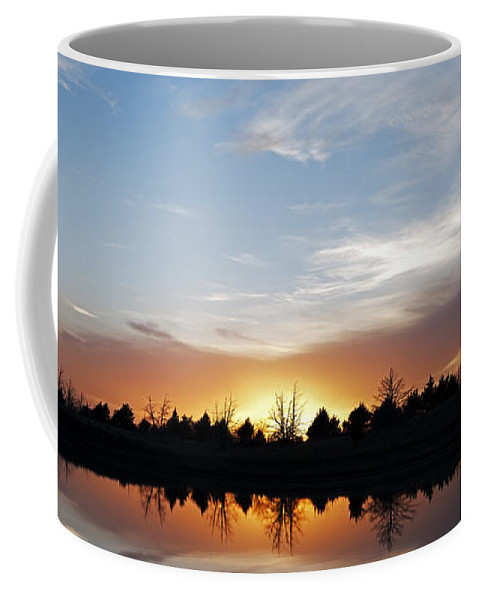 Sunset Coffee Mug featuring the photograph End Of The Day by Art Whitton