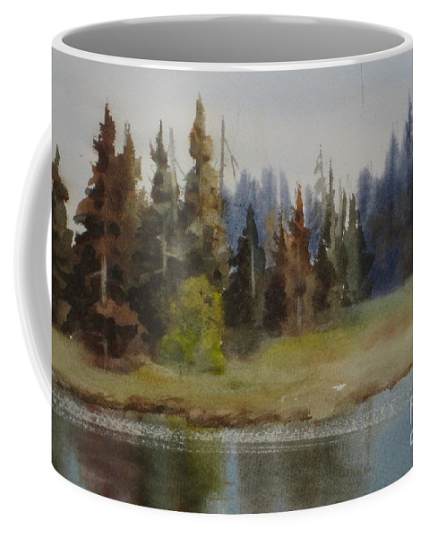 Coffee Mug featuring the painting End Of The Lagoon by Mohamed Hirji