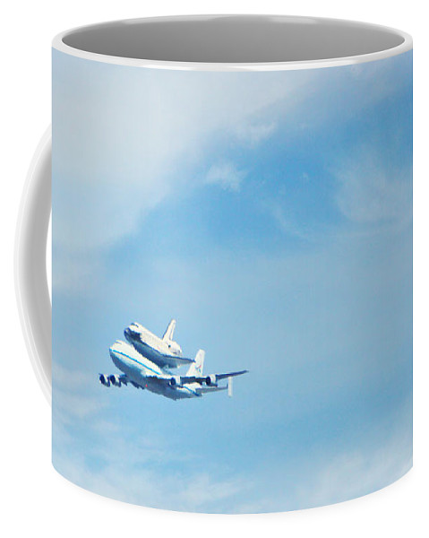 Endeavor's Last Flight Coffee Mug featuring the photograph Endeavour's Last Flight by Diana Haronis