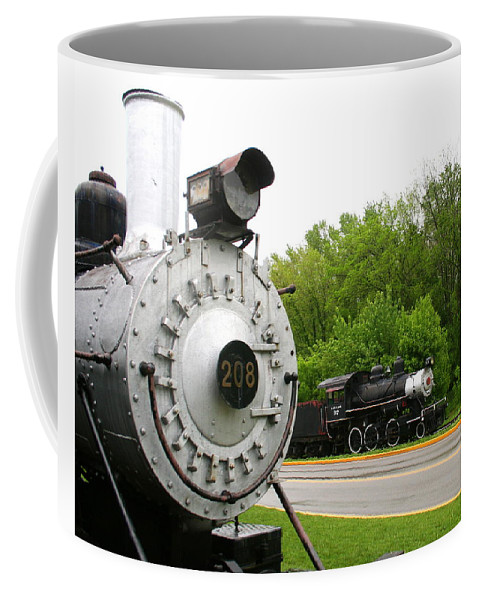 Engine Coffee Mug featuring the photograph Engine 208 by Laurel Talabere