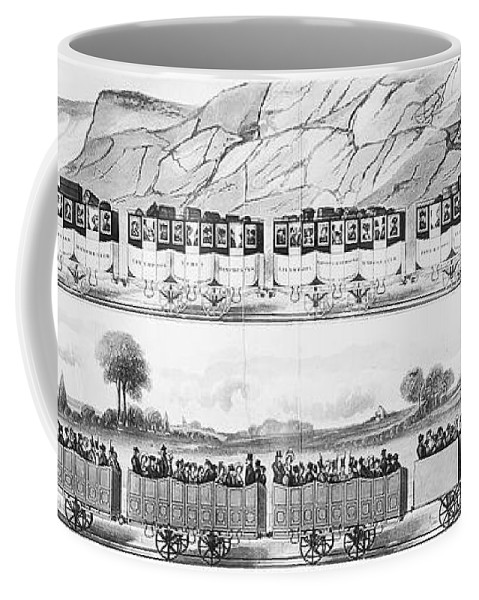1833 Coffee Mug featuring the photograph England: Railroad Travel by Granger
