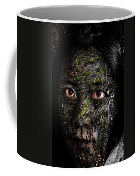 Erosion Coffee Mug featuring the painting Erosion by Christopher Gaston