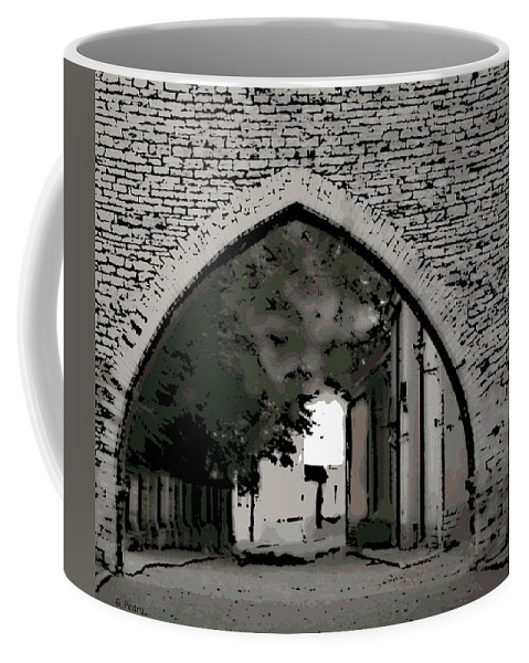 Tallinn Coffee Mug featuring the photograph Estonia Old Town Wall by George Pedro
