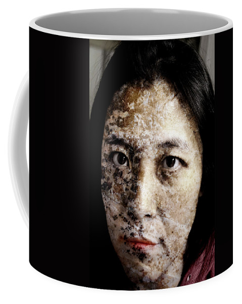 Etch Coffee Mug featuring the painting Etched In Stone by Christopher Gaston