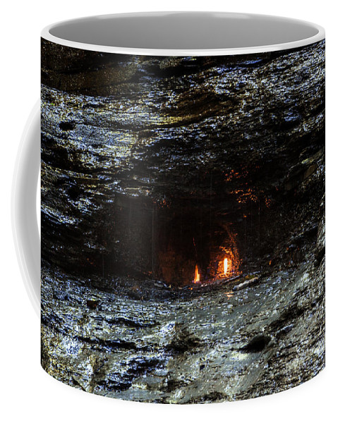 Waterfall Coffee Mug featuring the photograph Eternal Flame Reflections by Darleen Stry