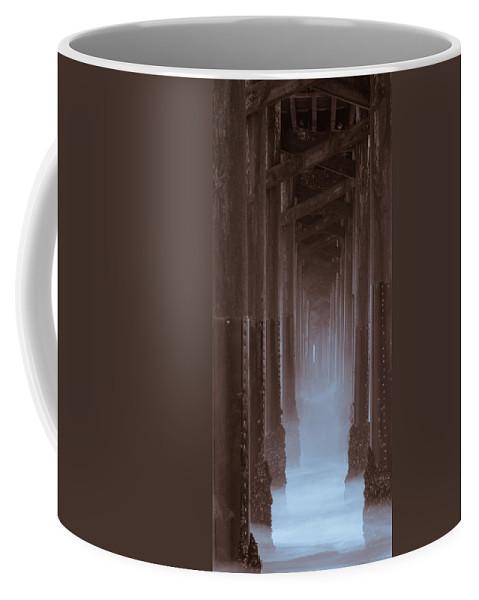 Birds Coffee Mug featuring the photograph Ethereal Pier by Kelly McNamara
