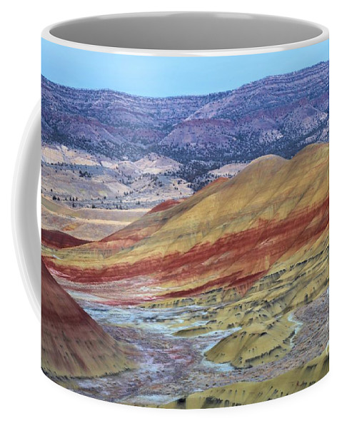 John Day Fossil Beds Coffee Mug featuring the photograph Evening In The Painted Hills by Adam Jewell