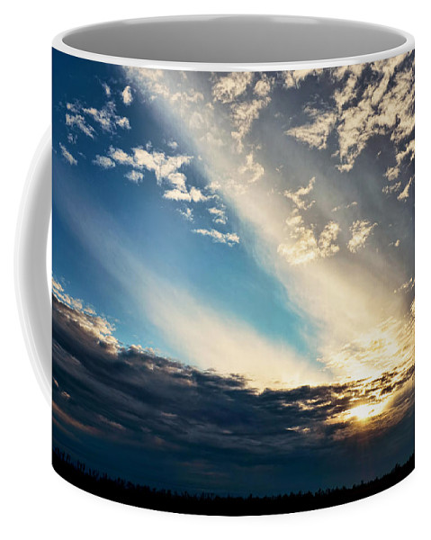 Nature Coffee Mug featuring the photograph Evening Rays by Debbie Portwood