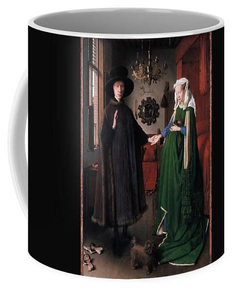 1434 Coffee Mug featuring the photograph Eyck: Arnolfini Marriage by Granger