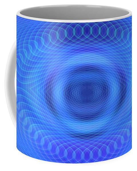 Blue Coffee Mug featuring the digital art Eye-in-i by Anastasia Pellerin