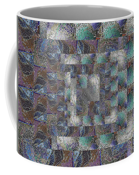 Abstract Coffee Mug featuring the digital art Facade 13 by Tim Allen