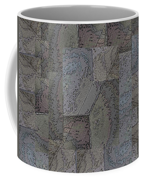 Abstract Coffee Mug featuring the digital art Facade 3 by Tim Allen