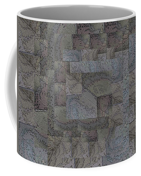 Abstract Coffee Mug featuring the digital art Facade 4 by Tim Allen