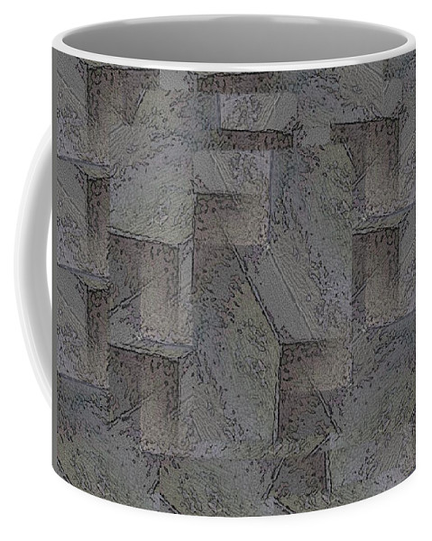 Abstract Coffee Mug featuring the digital art Facade 5 by Tim Allen