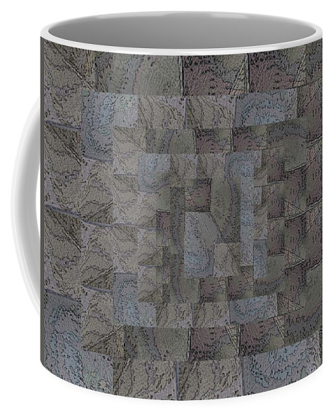 Abstract Coffee Mug featuring the digital art Facade 6 by Tim Allen