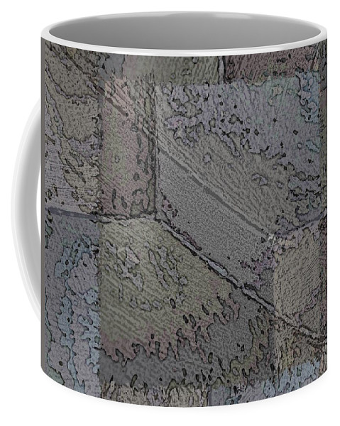Abstract Coffee Mug featuring the digital art Facade 7 by Tim Allen