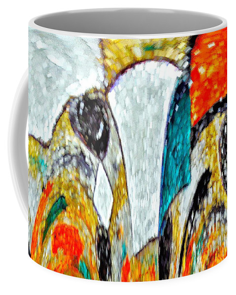 Faces Coffee Mug featuring the photograph Faces Come Out Of The Rain ... by Gwyn Newcombe