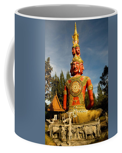 Temple Coffee Mug featuring the photograph Faces Of Buddha by Adrian Evans