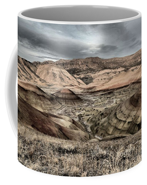 John Day Fossil Beds Coffee Mug featuring the photograph Faded Painted Hills by Adam Jewell