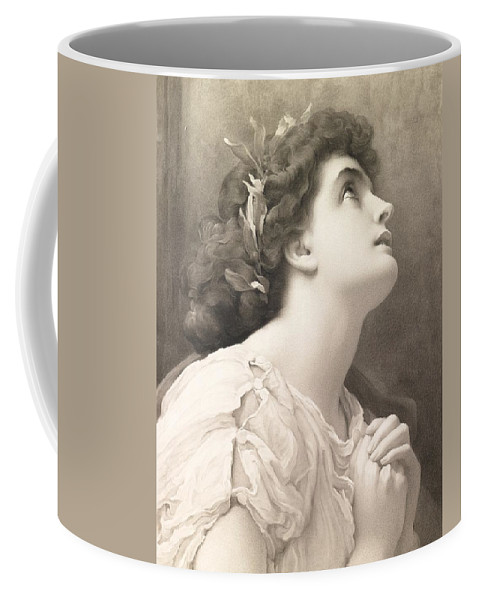 Faith Coffee Mug featuring the painting Faith by Frederic Leighton