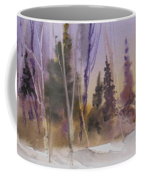 Trees Coffee Mug featuring the painting Fall In The Country by Mohamed Hirji
