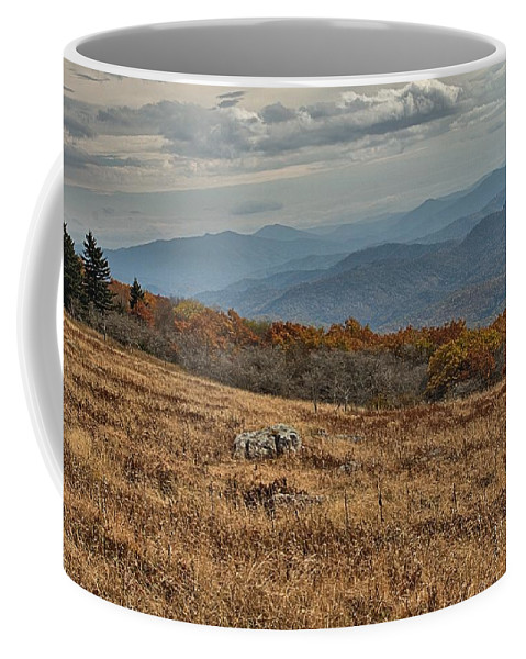 Fall Coffee Mug featuring the photograph Fall Scene On Whitetop Mountain Va by Mel Hensley