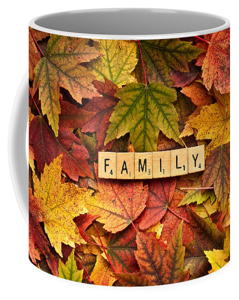 Believe Coffee Mug featuring the photograph Family-autumn Inpsireme by Onyonet Photo Studios