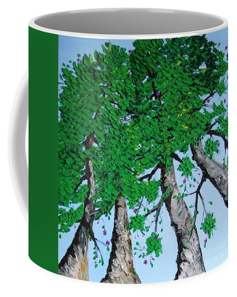 Landscape Coffee Mug featuring the painting Family Trees by Alfie Borg