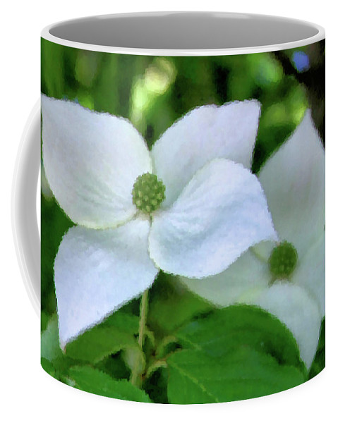 Dogwood Coffee Mug featuring the photograph Fancy Dogwood by Kristin Elmquist