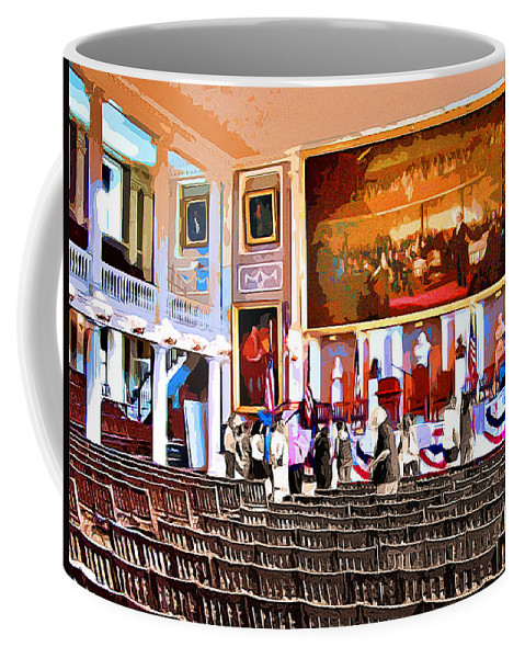 Faneuil Hall Coffee Mug featuring the digital art Faneuil Hall by Stephen Younts