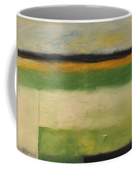 Landscape Coffee Mug featuring the painting Farmfield By Highway 29 by Tim Nyberg