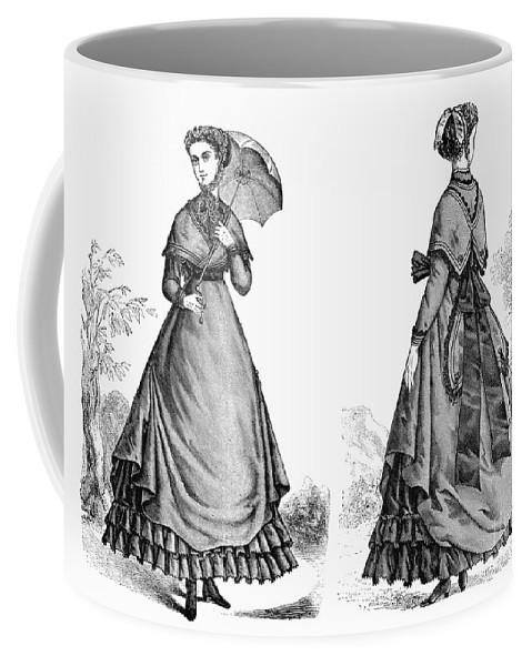 1868 Coffee Mug featuring the photograph Fashion: Women, 1868 by Granger