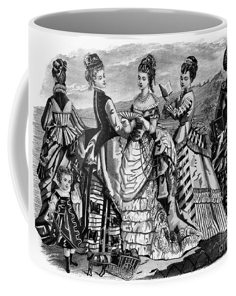 1874 Coffee Mug featuring the photograph Fashion: Womens, 1874 by Granger
