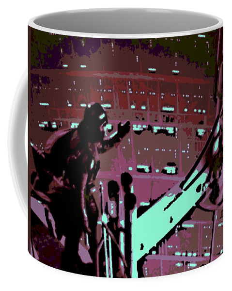 Darth Vader Coffee Mug featuring the photograph Father And Son Reunion by George Pedro